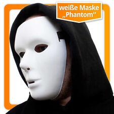 Weiße Maske maskulin anonyme Venezianische Faschingsmaske Phantommaske Masken