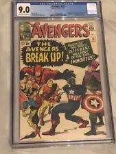 Avengers #10 CGC 9.0 (Off White to White Pages) 1st Immortus Baron Zemo Enchantr
