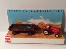 BUSCH 50005 Spur H0 Traktor Porsche Junior K und Anhänger #NEU OVP#