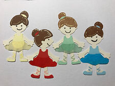 Bitty Child Ballerina Ballet Dancing Dance Die Cuts (Toppers/Scrapbook)