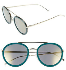 FENDI 51mm Aviator Sunglasses FF0156S Blue-Gold 100% Authentic New In Case $465