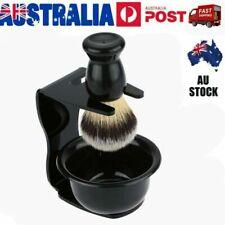 Men Shaving Brush Safety Razor Holder Rack Stand Shave Mug Cup Bowl Tool Set AU