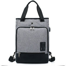 Mens Womens Laptop Rucksack Work Travel School Bags With USB Charging Port Grey
