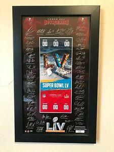Super Bowl 55 Tampa Bay Buccaneers Large Signature Ticket Frame NFL Licensed