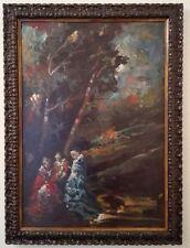 Olio su tavola 41X60 anonimo, stile impressionista, fine 800 primi 900, stupendo