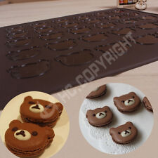 1pc Bear Head Silicone Pastry Cake Macaron Macaroon Oven Baking Mould Sheet Mat