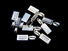 10 Pcs  -  Tibetan Silver Rectangular Shape Glue on Bails Pendant Cabochon G21