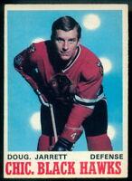 1970-71 OPC O PEE CHEE HOCKEY #150 Doug Jarrett EX-NM Chicago Blackhawks Card