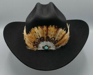 WESTERN COWBOY Feather Hatband tie for Cowboy hat - FHB-02