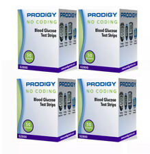 Prodigy Diabetic Test Strips 200 Ct in 4 Boxes Exp 2019+ Freaky Fast Shipping 👍