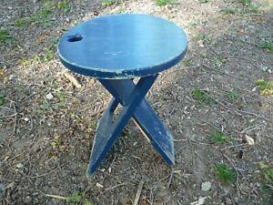 Tabouret pliant en bois vintage années 1980 design Adrian Reed Tallon