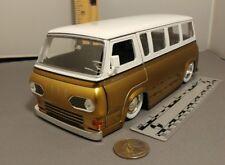 JADA 1965 Ford Econoline Window Van/Bus by Jada in 1/24th scale  WHITE/GOLD USED