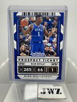 ZION WILLIAMSON - New Orleans Pelicans - Contenders Panini card - no. 13 - RC 4