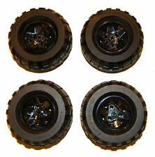 LEGO TECHNIC WHEELS BLACK (pack of 4) tire 81.6 x 38mm large tyre huge big
