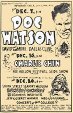 1969 DOC WATSON NEW YORK CITY BILL MONROE POSTER