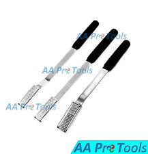 3 Equine Dental Float Rasp Up Straight Down Flat Handle Veterinary Instruments