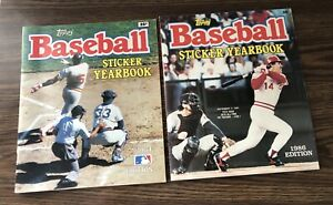 Topps Baseball Sticker Yearbook 1984 and 1986 - Used - Some Stickers In Albums