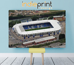 LEICESTER CITY KING POWER STADIUM WALL CANVAS   38MM WOOD FRAME   LARGE SIZES