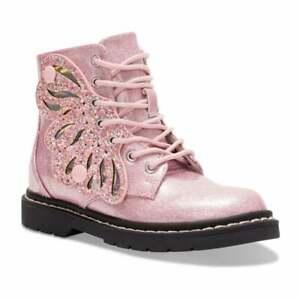 Lelli Kelly FAIRY WINGS BUTTERFLY Pink Glitter Ankle Boots LK5544