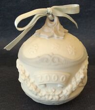 "Lladro ~ 2000~ 3½"" Ornament Ball ~ #6699 ~ White Bisque Porcelain"