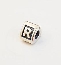 "Genuine Pandora Silver Charm ""Letter R"" - 790323R - retired"