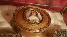 Antique French Box w/ Superb Hand Painted Miniature Portrait