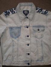 (Large) $88 NWT Rock & Republic HITCHHIKER Distressed Light Blue Women's Jacket
