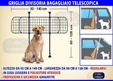 Griglia auto cane divisoria telescopica per trasporto cani bagagliaio regolabile