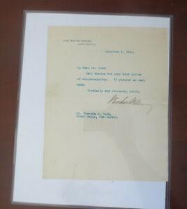 President Woodrow Wilson 2020 Historic Autographs POTUS Letter Auto Beckett LOA