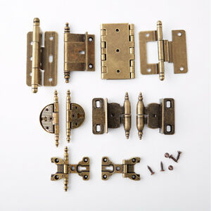 10PCS Antique Jewelry Gift Box Cabinet Hinges Cupboard Wardrobe Furniture Hinges
