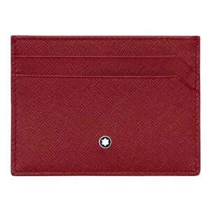 Credit cards holder Montblanc Sartorial 115849 5 compartments in red leather
