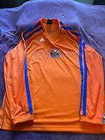 New York Knicks Shooting Shirt~Warm Up~NBA long sleeve Adidas Mens Size 2XL