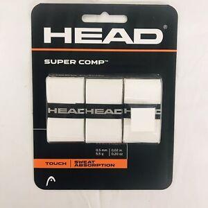 HEAD Super Comp Racquet Overgrip Tennis Racket Grip Tape 3-Pack White