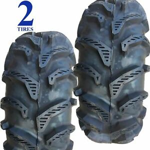 Two New 25x11.00-12 25x1100-12 25/11.00-12 25/1100-12 25/11-12 ATV TIRE 6ply