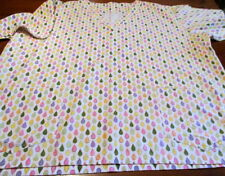Womans Plus Size Scrub Top Teardrop Pastel Excellent Condition See Measurements