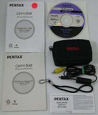 Pentax S40 Accessories CD ROM + Manual + Strap   AS IS