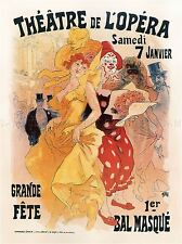 THEATRE CULTURAL MASKED BALL FESTIVAL OPERA PARIS FRANCE ADVERT POSTER 2129PYLV