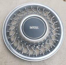 "(1) OEM 1991-1993 Chrysler Imperial 14"" Wire Spoke Hubcap Wheel Cover & Bracket"