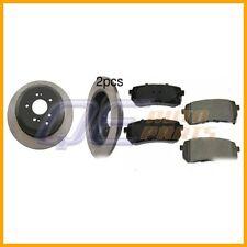 Rear Disc Brake Rotors and Brake Pad Set Ceramic For: Hyundai Veracruz 2007-2010