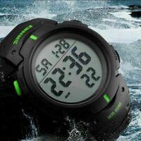 Military Men Sport Digital Date Alarm Large Face LED Wrist Army Watch Waterproof