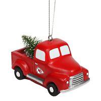Kansas City Chiefs Truck with Tree - Christmas Tree Holiday Ornament - FREE SHIP