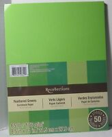 """New Recollections 8.5x11/"""" Cardstock Paper Summer Rain Orange Green 50 Sheets"""