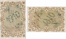 CPA fantaisie fantasy celluloid postcard flowers fleurs BONNE ANNEE 1910 [675 R]