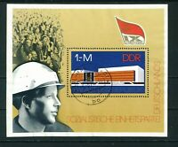 East Germany 1976 Socialist Unity Party Mini sheet of stamps used. Sg MSE 1840
