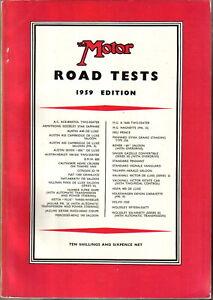Motor Road Test Annual 1959 Cars Austin Fiat Jaguar MG NSU Standard Vespa Volvo