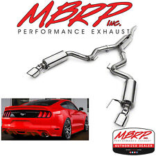 """MBRP Cat Back Dual Exhaust System 15-18 Ford Mustang EcoBoost 2.3L w/ 4.5"""" Tips"""