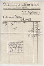 Strandhotel Kaiserhof Wangerooge Rechnung Quittung ca 1935