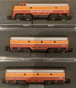 EMD F7A/B Daylight Passenger southern pacific SP #354/541/545 N Scale Diesel