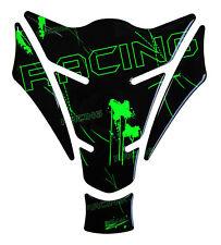 Tankpad 3d Racing Neon grün 501272 universell passender Motorrad Tankschutz