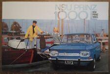 NSU PRINZ 1000L orig 1964 1965 UK Mkt Sales Brochure Prospekt